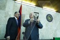 Defense minister meets with faculty and students of Yerevan State University
