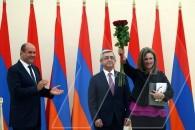 Церемония вручения премий президента Армении за 2015 год
