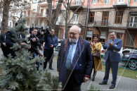 Polish composer and conductor Krzysztof Penderecki visiting Armenia