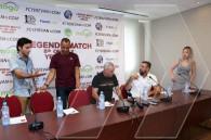 Cafu, Candela, Stoichkov in Yerevan