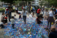 School students protest against plastic in Yerevan Park