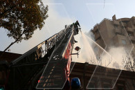 The fire broken out the roof of a restaurant at Abovyan 10 extinguished
