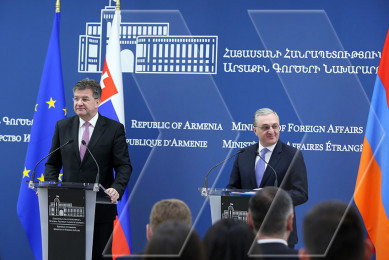 Armenian, Slovakian foreign ministers holding meeting in Yerevan