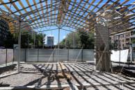 Մաշտոցի պուրակում ծառերը հատել են, սրճարան են կառուցում