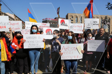 Young ARF members urge UN not to put equality sign between Artsakh, Azerbaijan any longer