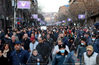 Baghramyan Avenue. Rally followed by march demanding Nikol Pashinyan's resignation