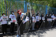 Silent demonstration  demanding the return of Armenian PoWs held in Azerbaijan