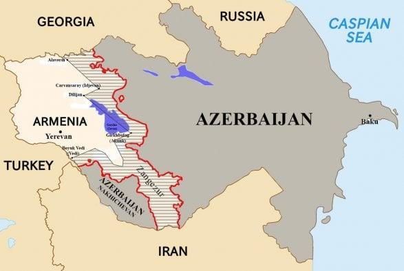 Ադրբեջան հորջորջվող արհեստածին կազմավորման երազած Հայաստանը պատկերված է այս «քարտեզում»