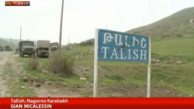 Итальянский телеканал снял репортаж о зверствах азербайджанских военных в отношении мирных жителей карабахского села Талыш