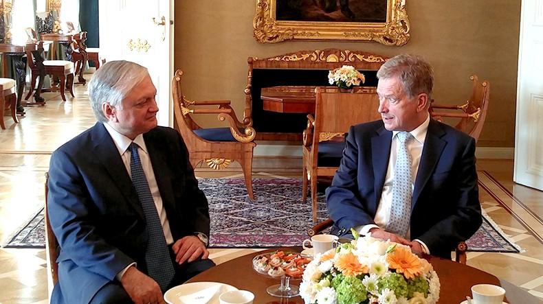 Президент Финляндии выразил безоговорочную поддержку усилиям по мирному урегулированию карабахского конфликта
