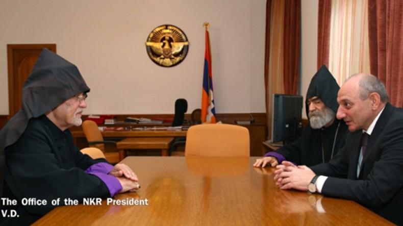 Bako Sahakyan meets with prelate of Tehran Diocese of Armenian Apostolic Church