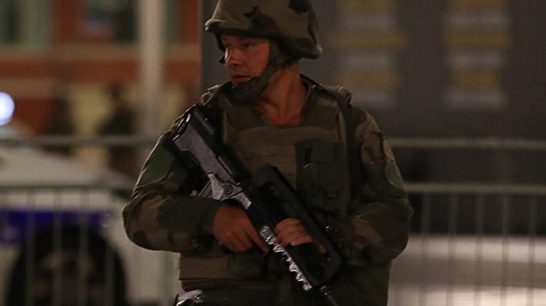 Появилось видео ликвидации террориста в Ницце