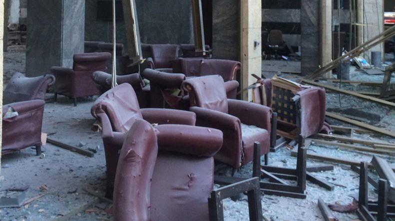 Разрушенное здание парламента Турции после попытки госпереворота: фото
