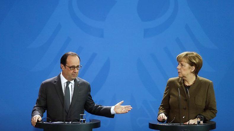 ангела меркель франсуа олланд выступили продление санкций против
