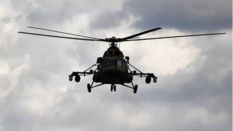 В Саратовской области упал вертолет Ми-8
