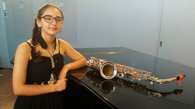 Armenian saxophonist wins top award at Spanish online music contest
