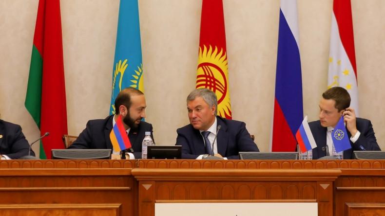 Арарат Мирзоян поздравил Вячеслава Володина с проведением и итогами референдума