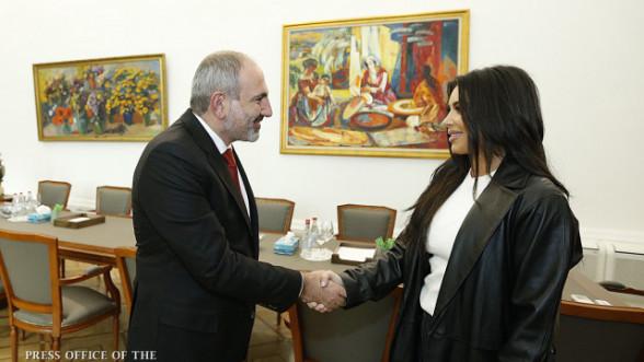 Նիկոլ Փաշինյանը հյուրընկալել է Քիմ Քարդաշյանին