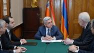 «Принципиальность, последовательность и трудолюбие»: президент С. Саргсян представил нового главу СНБ Армении