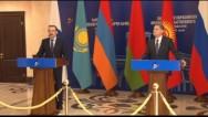 ԵԱՏՀ կոլեգիայի նախագահ Տիգրան Սարգսյանի և Ղազախստանի վարչապետ Կարիմ Մասիմովի ասուլիսը