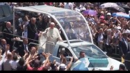 Pope Francis toured in Gyumri by popemobile