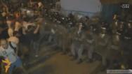 Ցուցարաները քարերով հարձակվեցին ոստիկանների վրա