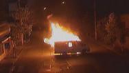 Զինված խումբը այրել է ՊՊԾ գնդի ծառայողական մեքենաներից մեկը