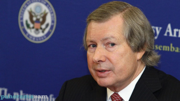 James Warlick presented the goals of the Minsk Group co-chairs' regional visit