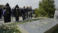 ՀՀ անկախության 26-րդ տարեդարձի առթիվ Նախագահը այցելել է «Եռաբլուր» պանթեոն