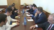 Ուսանողները հանդիպել են ՀՀ Աժ նախագահ Արա Բաբլոյանին և փոխնախագահ Է.Շարմազանովին