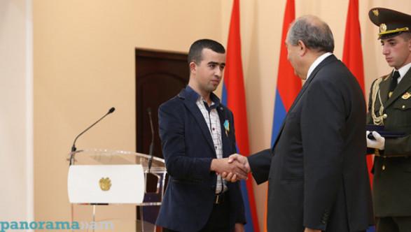 «Победивший смерть» Ованнес Погосян удостоен медали «За отвагу»