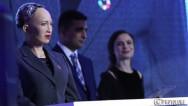 Робот София в Армении