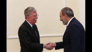 Pashinyan hails 'very positive' talks with Bolton