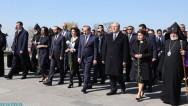Представители высшего руководства Армении воздали дань уважения памяти жертв Геноцида армян в «Цицернакаберде»